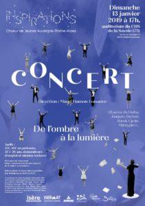 Concert du Chœur Régional de Jeunes Inspirations @ CHS de la Savoie
