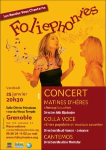 Concert Choeur Colla Voce - CRR de Grenoble @ Salle Messiaen